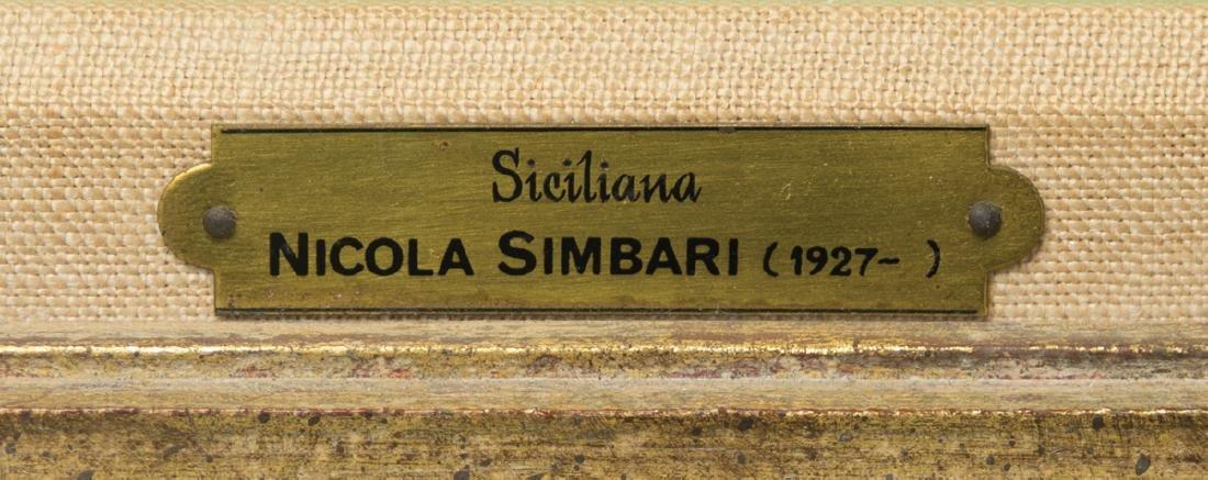 "NICOLA SIMBARI OIL ON CANVAS Titled ""Siciliana"", rider - 3"