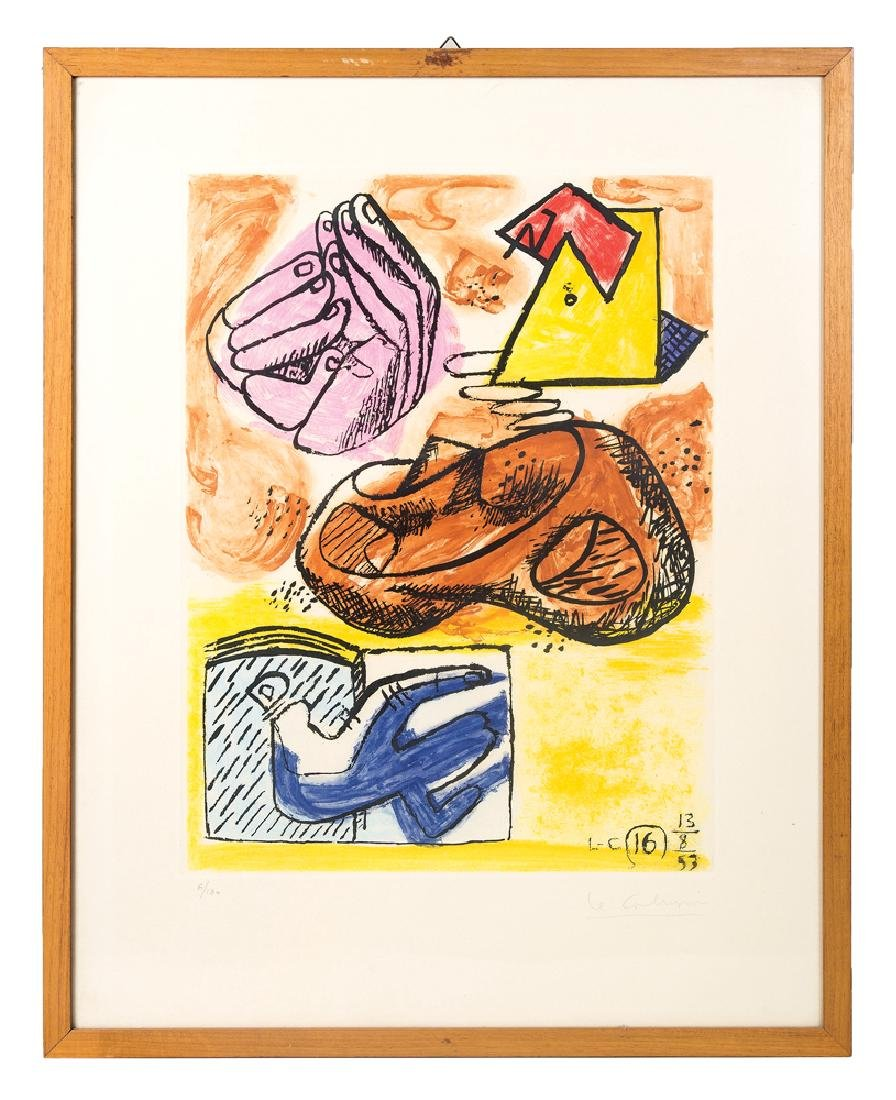 COLORED LITHOGRAPH, LE CORBUSIER (Charles-Edouard