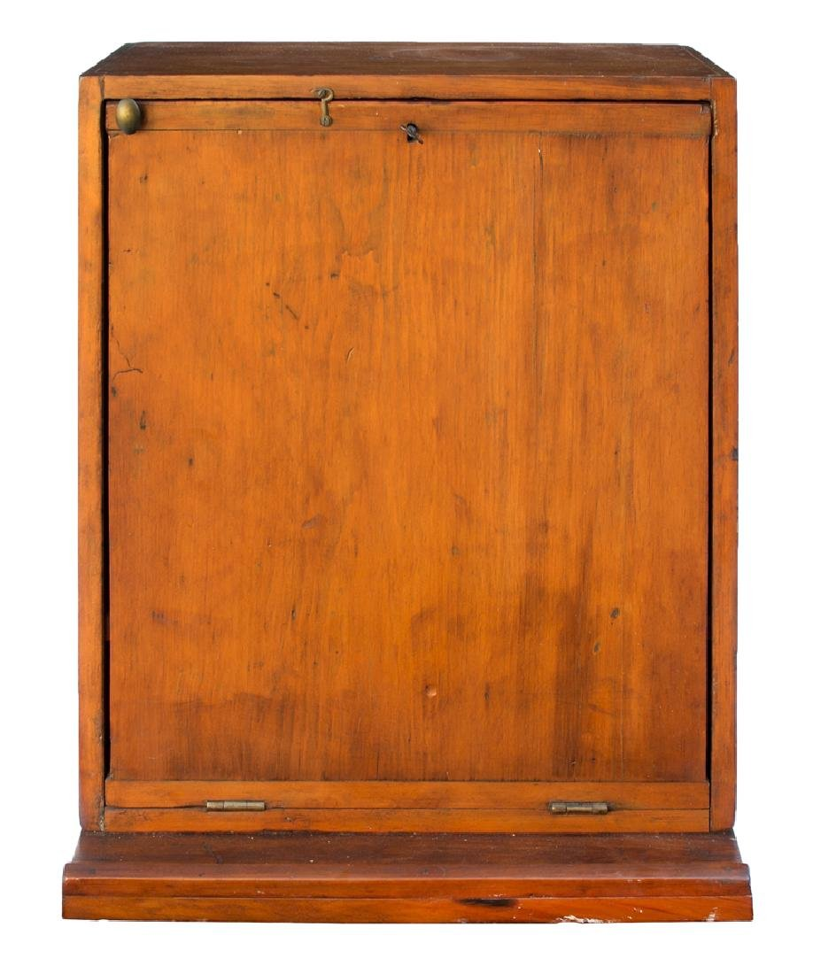 19TH C. HANGING FALL FRONT DESK BOX Pine, with vertical
