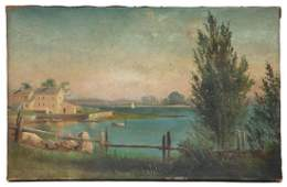 19TH C. OIL PAINTING BY C.H. GIFFORD Oil on canvas,