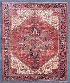 ROOMSIZE PERSIAN HERIZ Oriental rug large red diamond