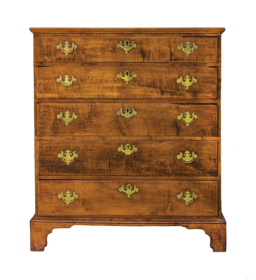 18TH/EARLY 19TH C. CHIPPENDALE CHEST American