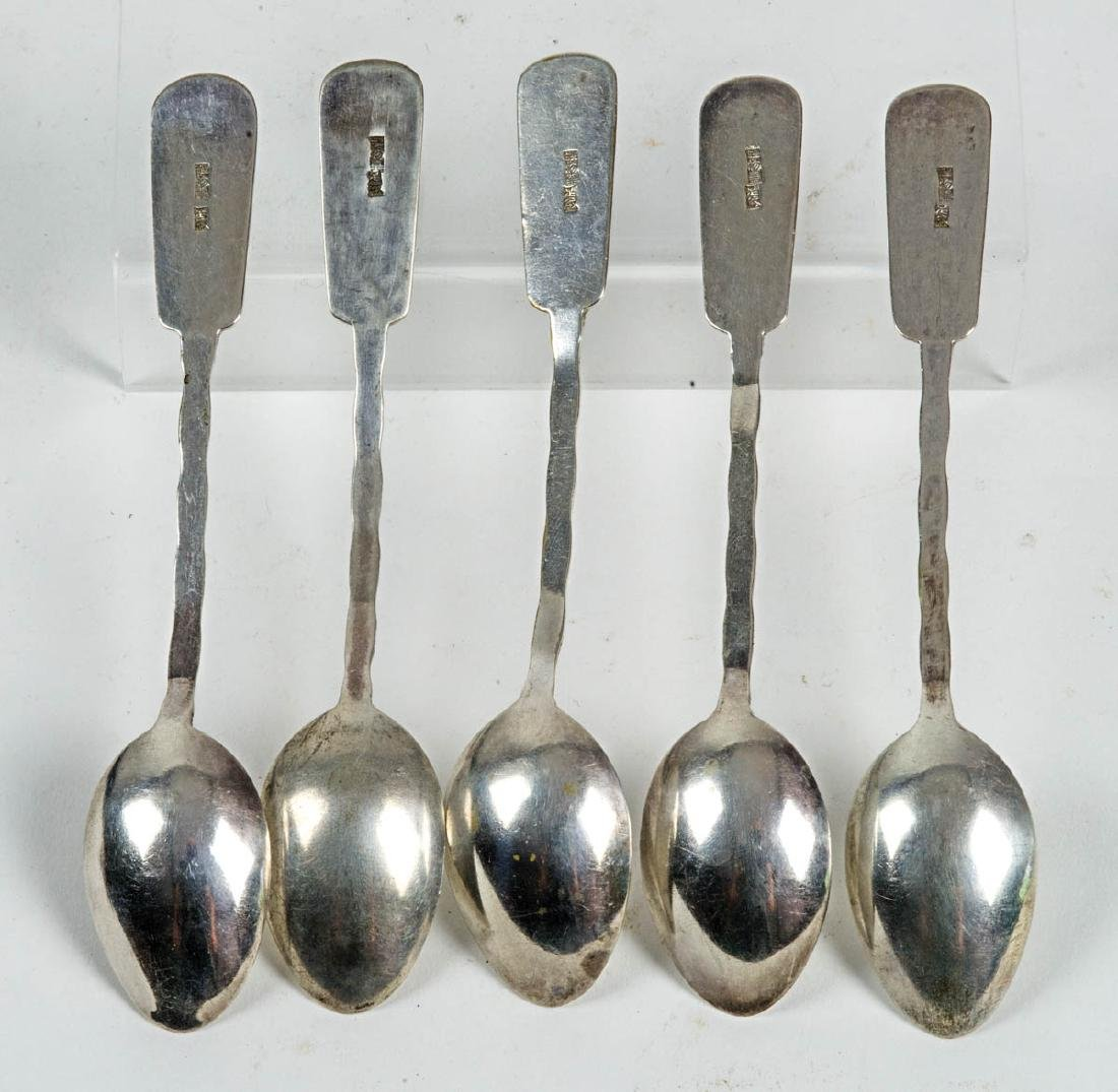 STERLING ASIAN DECORATIVE SPOONS - 2