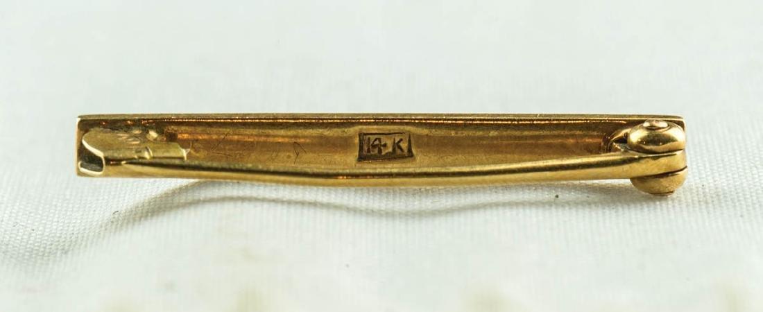NINE 14K GOLD PINS - 2
