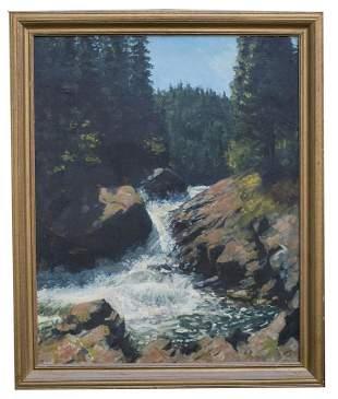 PAINTING BY EUGENE KINGMAN Oil on canvas, Eugene