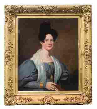 PORTRAIT OF WOMAN Oil on canvas, portrait of a woman in