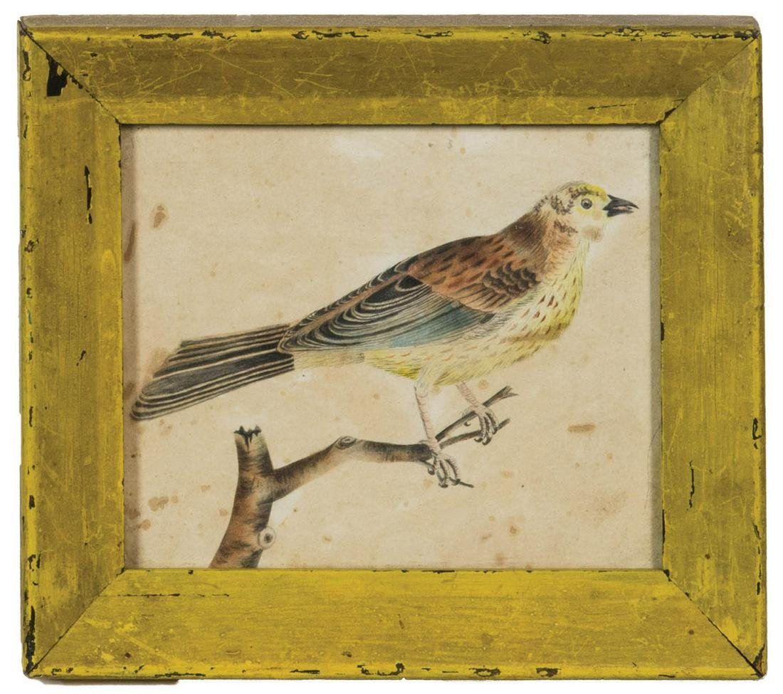 TWO FRAMED WATERCOLORS 19th c. watercolors on paper,