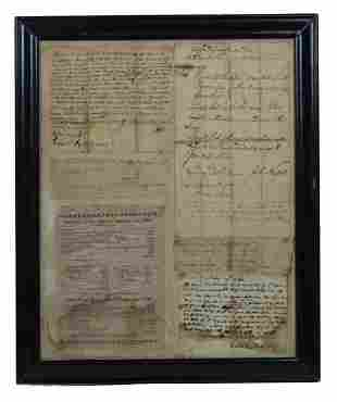 SIX EARLY AMERICAN DOCUMENTS Documents within the same