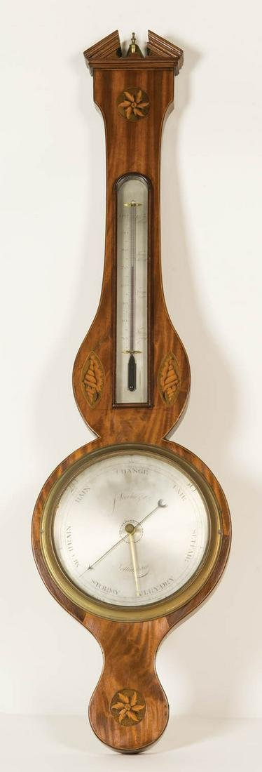 VERY FINE LATE 18TH/EARLY 19TH C. BAROMETER Silvered