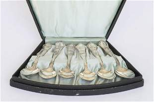SOUVENIR AND COIN SILVER SPOONS Set of six Victorian