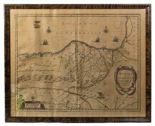 MAP OF VISCAYA NORTHERN SPAIN Biscaia et Gvipvscoa