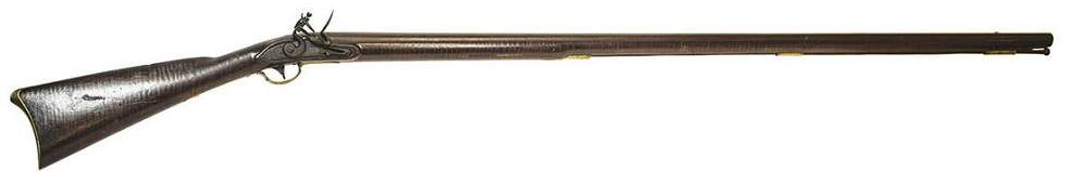 FLINTLOCK LONG MUSKET, .62 CALTiger maple, lock plate