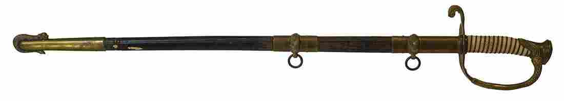 NAVAL OFFICERS SWORDMade USA with an etched