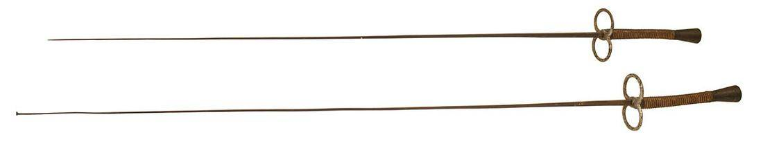 TWO FRENCH SWORDSPair of early French fencing foils