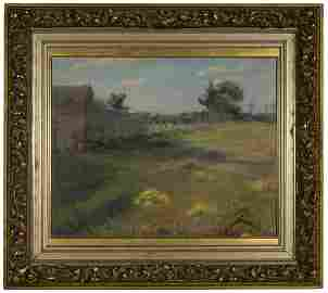 SPRING LANDSCAPE BY ERNEST LAWSONOil on canvas by