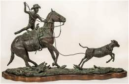 EXCEPTIONAL WESTERN BRONZEBronze by sculptor Truman
