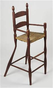 NEW ENGLAND HIGH CHAIRLate 18th/early 19th c. high