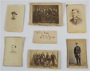 19TH C. PHOTOGRAPHSCarte-de-visites, three images of