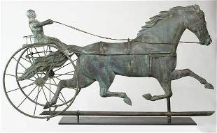 TROTTING HORSE WEATHERVANEEarly trotting horse with