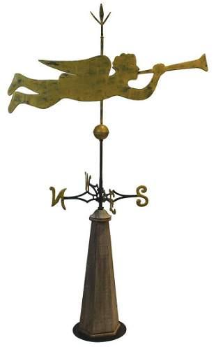 ANGEL GABRIEL WEATHERVANERare copper weathervane,