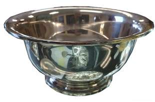 STERLING BOWLFooted, sterling silver fruit bowl, 12.86