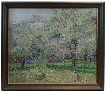 SPRING LANDSCAPE BY WILBUR DEAN HAMILTONOil on canvas,