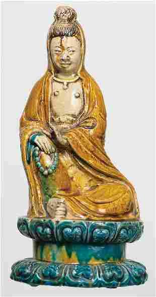 MING DYNASTY FIGURE OF QUAN YIN16th/17th c. figure of