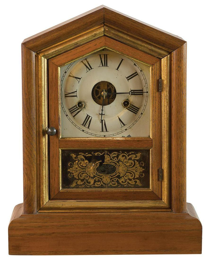 19TH C. MANTLE CLOCKStrike and time, Seth Thomas mantle