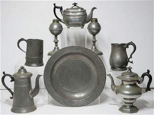 19TH C. AMERICAN AND ENGLISH PEWTERCollection includes