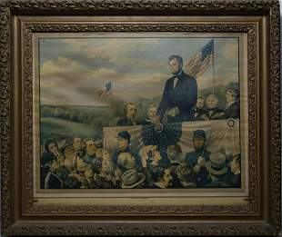 FOUR ABRAHAM LINCOLN PRINTSHand-colored lithograph,