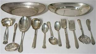 STERLING SILVER BOWLS, AND SERVING PIECESCollection of