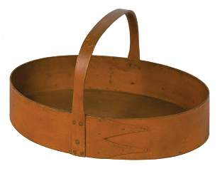 OVAL CARRIER Pine and maple, original orange painted