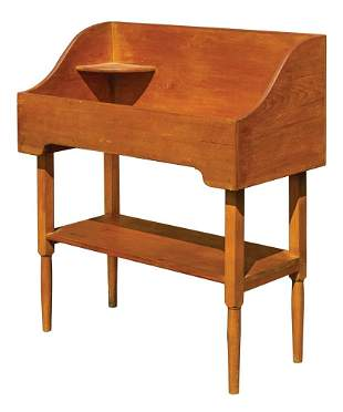 WASH STAND Pine and birch, original yellow and red