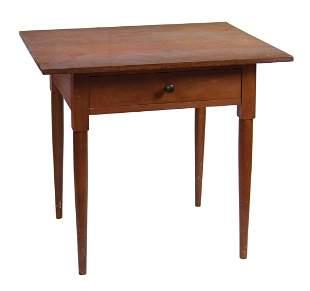 WORK TABLE Walnut, original darkened red stain, single