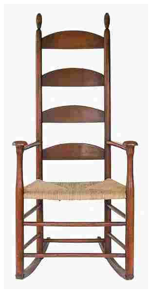 ROCKING CHAIR Maple and tiger maple, traces of red with