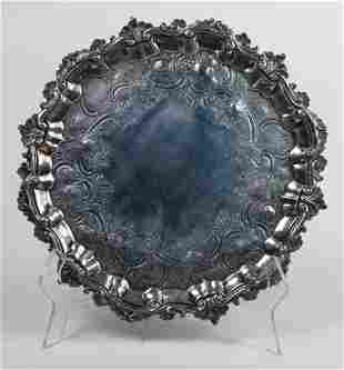 18th c. George the Second sterling salver