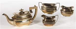 Four piece sterling tea set