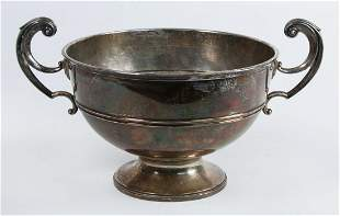 English silver footed bowl