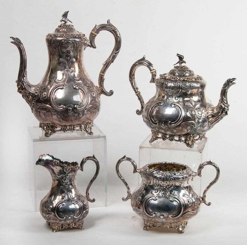 Sterling silver breakfast set