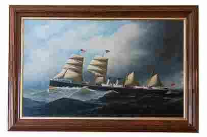 "Ship o/c ""The Spain"" by Antonio Jacobsen"