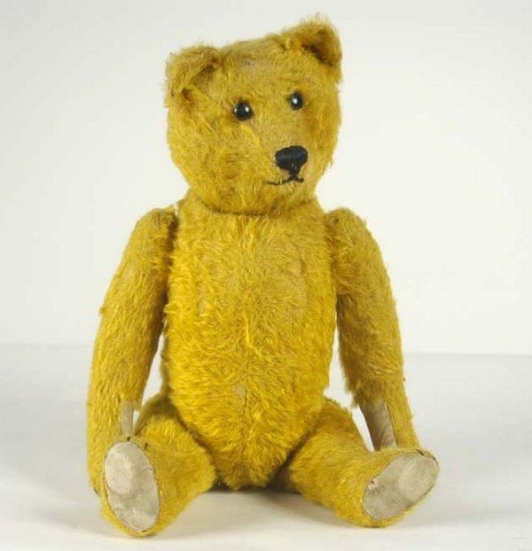 11: Rare mohair covered teddy bear, large shoe button e