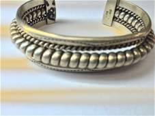 sterling silver vintage style bangle