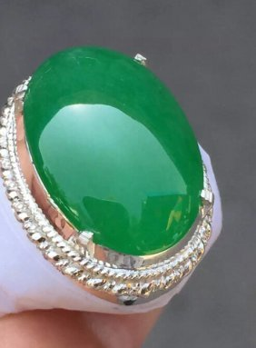 Imperial Green Emerald Jade Ring