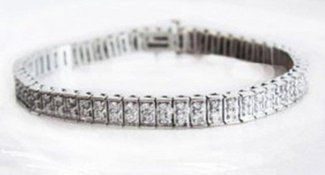Tennis Diamond Bracelet 3.15 Carat 14k W/G Lenght: 7