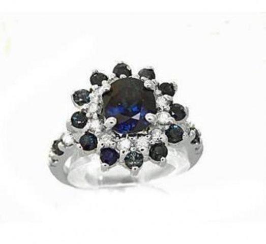 Pendant Flower Design Diamonds .74Ct 18k W/g
