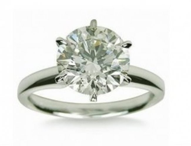 Engagement Diamond Ring 1.27Ct 14k W/g SZ 6