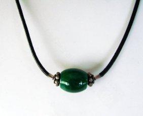 "Jadeite Jade 17"" Necklace Grade B"