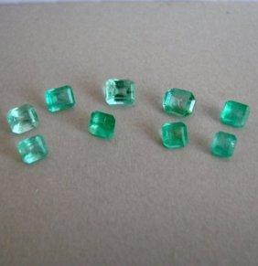 Mixed Size Shape Columbia Emerald 3.42ct