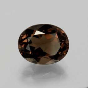Natural Smoky Topaz Oval Facet 8.45ct 15.1x11.8x7.3 Mm