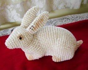 Handmade Rabbit Figure With Freshwater Pearl